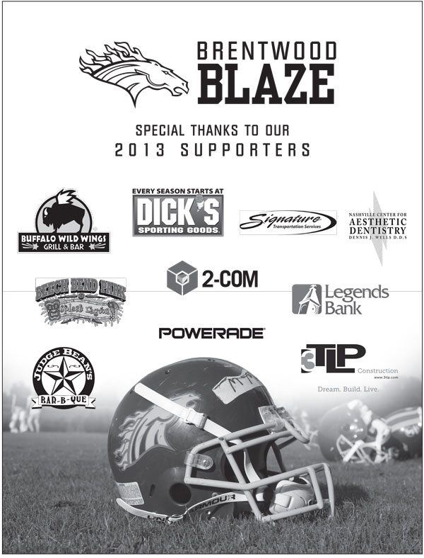 Brentwood Blaze Ad
